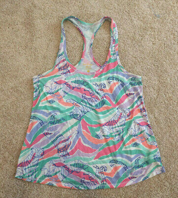 $19 • Buy Lilly Pulitzer Luxletic Swing Tank Top Racerback Tiger Sandstripe Size Small