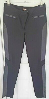 $ CDN72.43 • Buy NEW Danier Leather Black Stretch Pants, Zipper Front Sexy Fitted Size 10 Medium