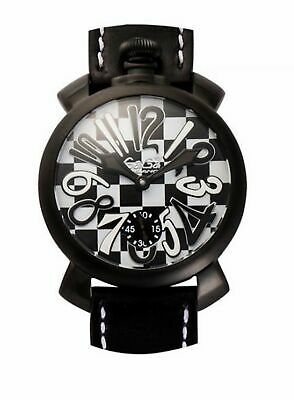GaGà Milano Mechanical Watch Manuale 48MM Limited Edition Chessboard Black PVD 5 • 879£