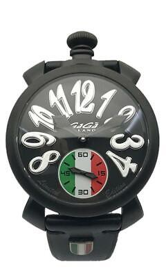 GaGà Milano Mechanical Watch Manuale 48MM Limited Edition Italy Black PVD 5012.L • 879£