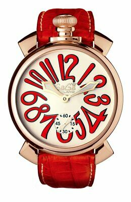 GaGà Milano Mechanical Watch Manuale Red 48MM Rose Gold 5011.10S • 889£