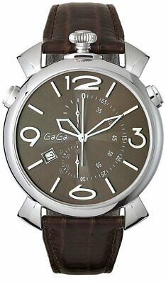GaGà Milano Watch Thin Chrono 46MM Brown 5097.03 • 949£