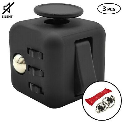 AU17.95 • Buy Fidget Cube Desk Toy  Stress Relief Cubes Comes In Gift Pack+2 Free Fidget Toys