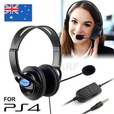 AU11.95 • Buy Gaming Headset Headphone With Microphone Volume Wired For Sony PS4 PlayStation 4