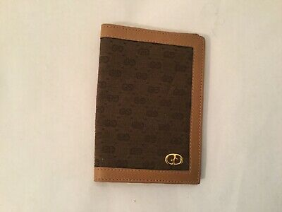 """$37 • Buy Vintage GUCCI GG Slim LEATHER CREDIT CARD WALLET Brown 6""""  BY 4.5"""" Open"""