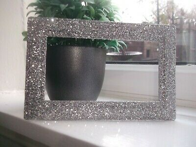 £5.49 • Buy Silver Fine And Chunky Glitter Double Plug Socket Surround Fits On Wallpaper New