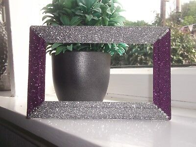 £8.95 • Buy Silver Purple Glitter Crystals Double Plug Socket Surround Fits Over Wallpaper