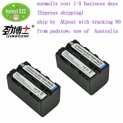 AU49.99 • Buy 2X Battery For Sony NP-F330 NP-F550 NP-F570 F530 NP-F750 NP-F970 BY AU