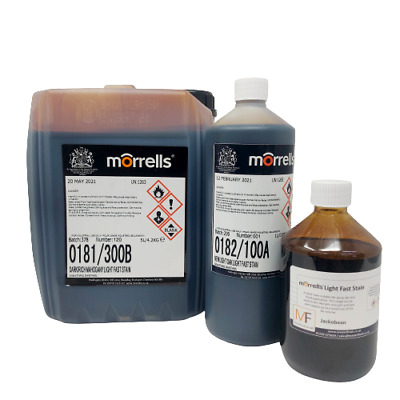 £9.99 • Buy Morrells LF Wood Stain / Wood Dye - Fast Dry Spirit Based Easy To Use Wood Stain