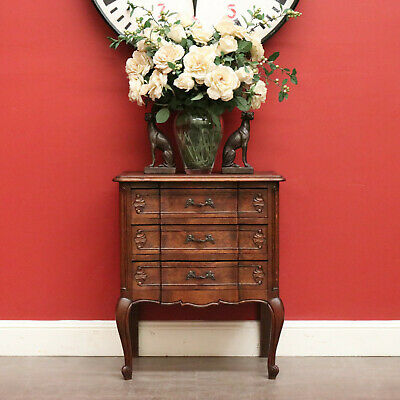 AU695 • Buy Antique French Oak Chest Of Drawers Hall Cabinet Storage Side Lamp Cupboard