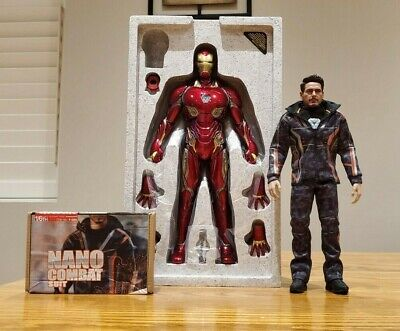 $ CDN768.37 • Buy Hot Toys Iron Man Mark 50 L + Tony Stark Nano Combat Suit  MMS473-D23 Nano Tech