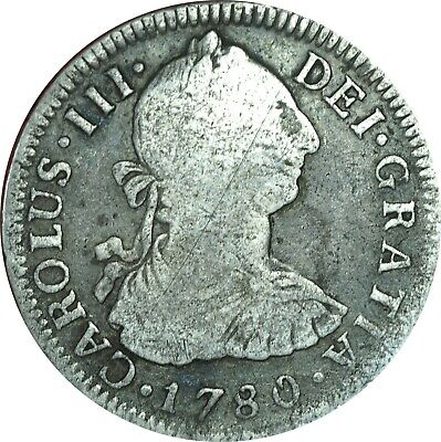 $ CDN52.66 • Buy 1780-Mo FF 2 Reales Mexico Colonial Currency Fine Condition