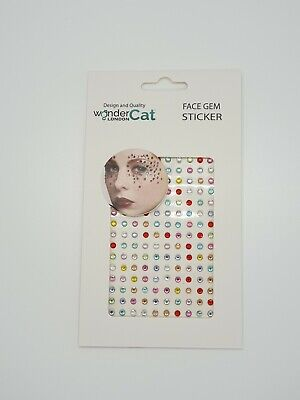 Face Gems Adhesive Glitter Jewel Tattoo Sticker Festival Party Body Make Up (A2) • 1.89£