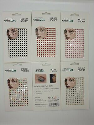 5 SHEET Face Gems Adhesive Glitter Tattoo Sticker Festival Party Body Make Up MA • 4.99£