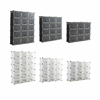 AU84.99 • Buy Cube Cabinet Shoe Storage Cabinet Organiser Rack Shelf Stackable DIY 6/8/10 Tier