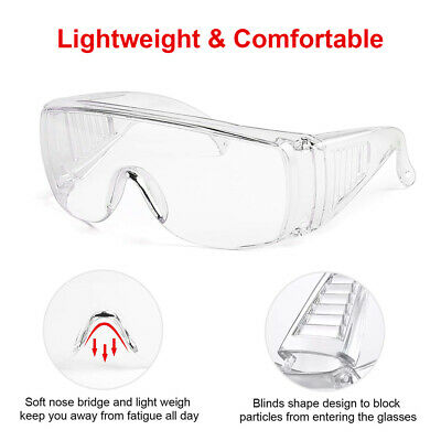 £3.99 • Buy 2X Safety Goggles Glasses Eye Protection Anti Fog Clear Vent Unisex Lab Work