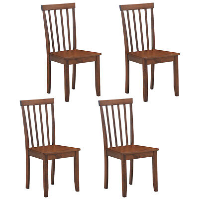 $217.69 • Buy 4 PCS Dining Chair House Kitchen Spindle Back Side Chair Wooden Legs Solid