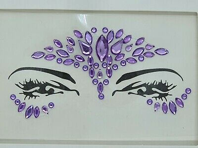 Face Gems Adhesive Glitter Jewel Tattoo Sticker Festival Party Body Make Up (85) • 1.89£