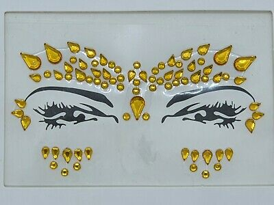 £2.59 • Buy Face Gems Adhesive Glitter Jewel Tattoo Sticker Festival Party Body Make Up (89)