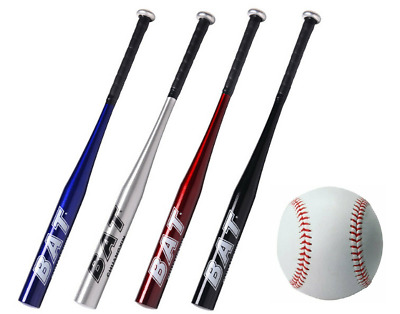 "Baseball Bat Red Metal Aluminium Alloy 25/"" 63.5cm Sport Stick UK"