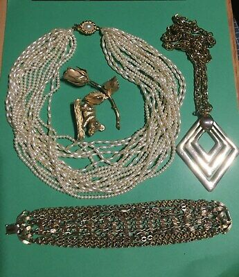 $ CDN16.34 • Buy Mixed Vintage Jewelry Lot - All Signed Pieces