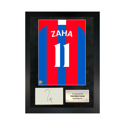 Authentic Signed Framed Wilfried Zaha Reds In Crystal Palace Shirt Print • 89.99£