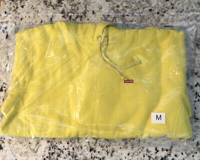 $ CDN223.21 • Buy Brand New Supreme Small Box Logo Hoodie Sweatshirt Lemon Yellow Size Medium