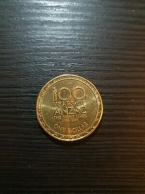 AU3.99 • Buy 2015 Australian 100 Years Of ANZAC One Dollar $1 Coin - Circulated - Low Mintage