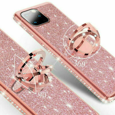 AU12.64 • Buy Luxury Bling Glitter Diamond Bumper Ring Stand Case Cover For IPhone XS Max 7 8+