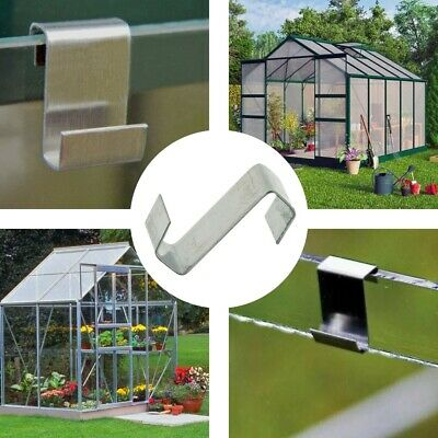 Pack Of 100 Greenhouse-Green House Aluminium-Lap Z Window Glazing Clips • 5.48£