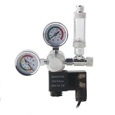 Aquarium Co2 Pressure Regulator Gauge Magnetic Solenoid Valve Kit Free Shipping • 52.99£