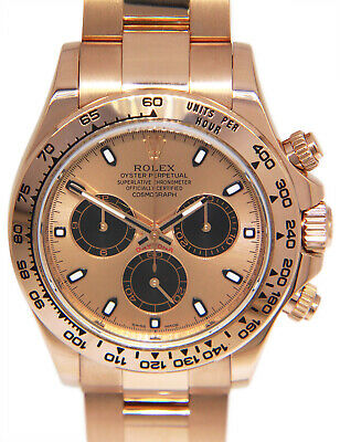 $ CDN50082.82 • Buy Rolex Daytona Chronograph 18k Rose Gold Watch Rose Dial Box/Papers 116505