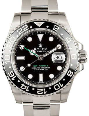 $ CDN16353.13 • Buy Rolex GMT-Master II Steel Ceramic Black/Green 40mm Watch Box/Papers 116710