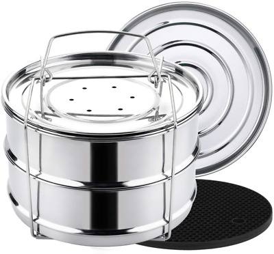 $32.42 • Buy Aozita 3 Quart Stackable Steamer Insert Pans - Accessories For Instant Pot Mini