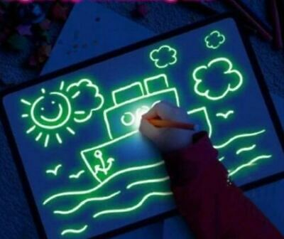 Draw With Light ALL Drawing Board Fun Developing Toy Magic Paint Kid Educational • 2.49£