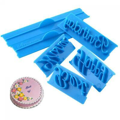 Fondant Cutter Icing Cake Mold Happy Birthday Letter Sugarcraft Mould • 3.02£