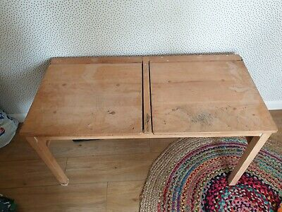 Vintage Double School Desk • 55£