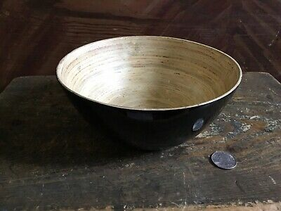$15 • Buy Bamboo Lacquer Bowl ~ Shiny Black Lacquer