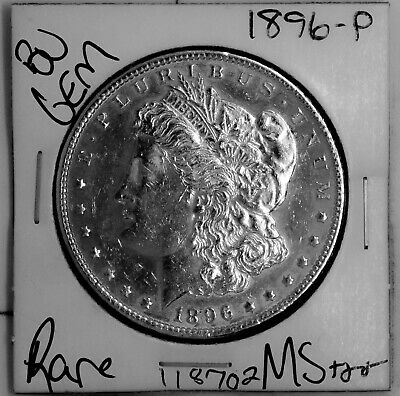 $20.50 • Buy 1896 GEM Morgan Silver Dollar #118702 BU MS+++ UNC Coin Free Shipping