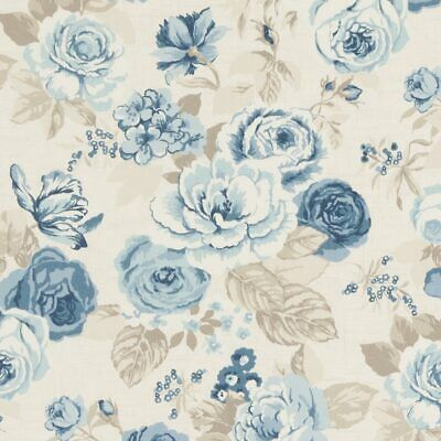 Clarke And Clarke Genevieve Chambray Cotton PVC WIPE CLEAN Tablecloth Oilcloth • 13.99£
