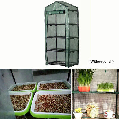 Garden 4-Tier Greenhouse Cold Frame W/ Shelving&Reinforced Cover Gardening Hot • 16.06£