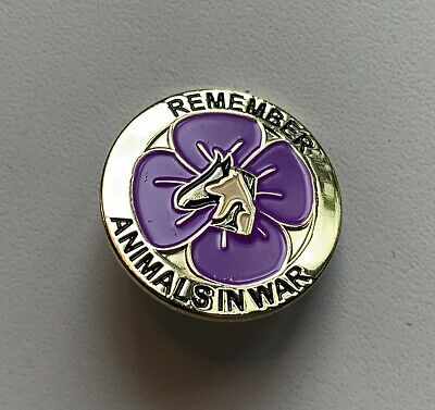 Rememberance Badge - Purple Poppy To Commemorate Animals In War • 3.99£