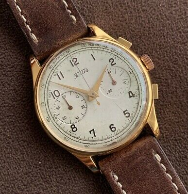 $ CDN537.50 • Buy Vintage Fortis 18K Solid Gold Chronograph