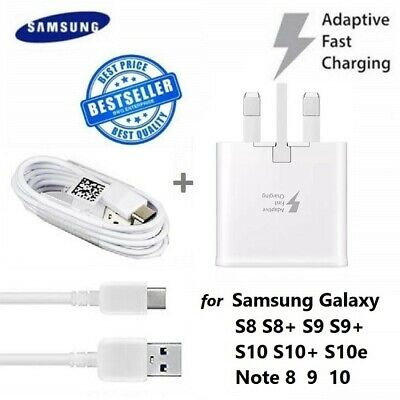 Genuine Fast Charger Wall Plug & Type-c Charging Usb Cable For Samsung Galaxy • 6.99£