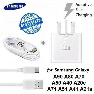 Adaptive Fast Charger Plug & Type-c Cable For Samsung S9 S8 A71 A51 A70 A50 A40 • 6.99£