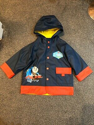 Thomas The Tank Engine Rain Jacket. Age 2 Boys, Blue With Red Cuffs. • 30£