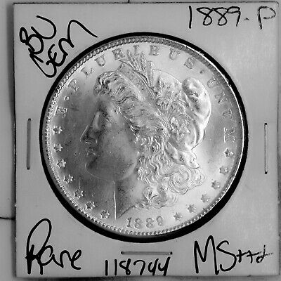 $19.75 • Buy 1889 GEM Morgan Silver Dollar #118744 BU MS+++ UNC Coin Free Shipping