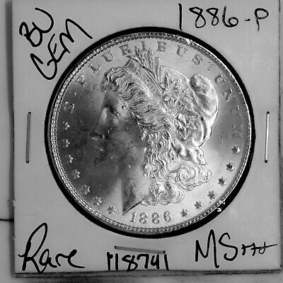 $19.50 • Buy 1886 GEM Morgan Silver Dollar #118741 BU MS+++ UNC Coin Free Shipping