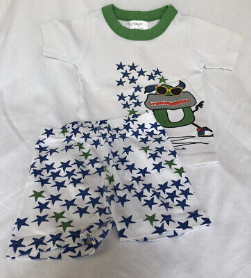 $6 • Buy Hanna Andersson 100 Or US 4 Short John Stars Monster Pajamas