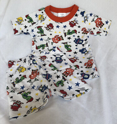 $7 • Buy Hanna Andersson 100 Or US 4 Short John Stars Monsters Pajamas